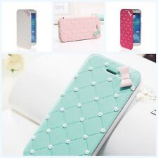 Portable Cherry Flip PU Card Leather Case Cover For Various Mobile Cell Phone
