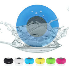 Waterproof Wireless Bluetooth Handsfree Mic Suction Mini Speaker Shower 6 Colors