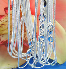 5pcs Lots Women Genuine Snake Chain Pure 925 Sterling Silver Necklace Free ship