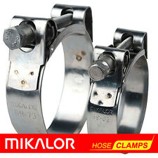 MIKALOR W2 Stainless Steel Hose Clamps / Supra / Exhaust / T-Bolt / Marine Clip