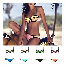 New Sexy Bandage Bikini Set Push-up Padded Bra Swimsuit Bathing Suit Swimwear18#