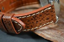 MA WATCH STRAP 22 MM GENUINE FROG SKIN LEATHER F. OMEGA.. HANDMADE SPAIN HABANA