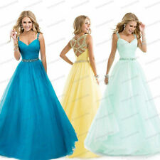 Long Sexy Chiffon Bridesmaid Formal Gown Ball Party Cocktail Evening Prom Dress