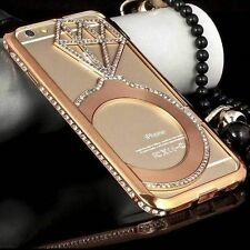 New Luxury Crystal Rhinestone Diamond Bling Metal Case Cover Bumper For iPhone