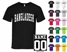Country of Bangladesh College Letters Custom Name & Number Personalized T-Shirt