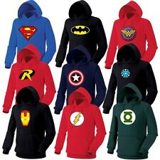 Superhero FILM Marvel DC COMICS Batman Superman Flash GL Hoodie Sweatshirt Hoody
