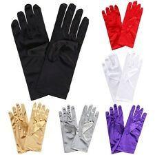 Ladies Short Smooth Satin Wrist Gloves Great For Wedding Evening Prom Party