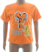 BNWT Orange T is for Tiger Boys Short Sleeve Tshirt Top Age 6 12 18 23 24 Months