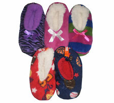 ~~CHILDREN'S SKIDDERS SHERPA LINED & SOLE GRIPS HOUSE SHOE SLIPPERS-IMMED SHIP!
