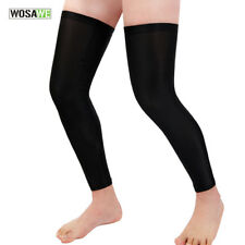 Black Leg Sleeves Cover UV Block Guard Knee Running Bicycle Bike Riding Warmer