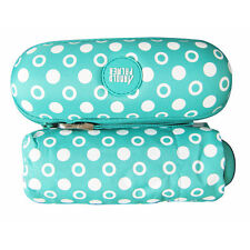 Womens Polka Dot 5Folding Compact Mini Umbrella & Sun Parasol with Hard Case