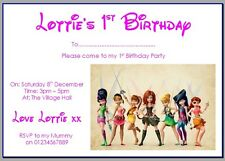 personalised paper card party invites DISNEY TINKERBELL AND THE PIRATE FAIRY