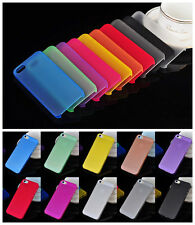 Colorful 0.3mm Ultra Thin Slim Crystal Clear PP Hard Case fr iPhone 5C 4 4S 5 5S