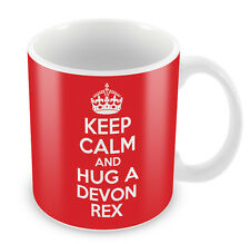 KEEP CALM and HUG a Devon Rex - Coffee Cup Gift Idea for Cat lover present