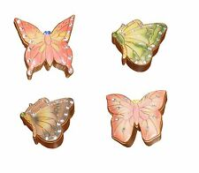 ~~ONE (1) BUTTERFLY KEEPSAKE TRINKET BOX WITH FAUX GEM STONES-IMMED SHIP