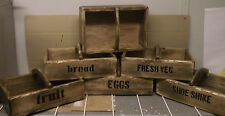 FARMHOUSE/RUSTIC/COUNTRY/DISTRESSED/TRAYWOODEN TRUG/BASKET/BOX/