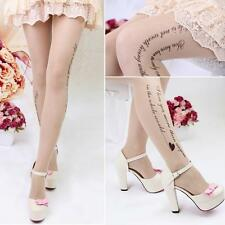 Ladies Groomed Lovely Sheer Design Pattern Printed Tattoo Stockings Pantyhose