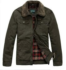 AFS JEEP Jacket Men's Winter Warm Autumn Cotton Detachable Collar