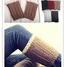 Women's Crochet Knitted Lace Trim Boot Cuffs Toppers Leg Warmers Socks 1 Pair