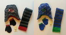 WINTER 3 PC SET (FIRE TRUCK or DINOSAUR)  HAT, GLOVE & SCARF  INFANT & TODDLER