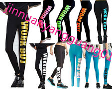 Women Capri YOGA Running sport Pants Work out Cropped Leggings Fitness Trouser