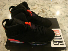 "Nike Air Jordan 6 vi Retro 2014 ""Black Infrared"" 4y-7y GS royal bred"