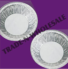 INDIVIDUAL FOIL PIE DISHES, CASES, ROUND, SMALL CONTAINER, DISH, DISPOSABLE TRAY