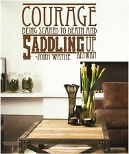 COURAGE | John Wayne | Vinyl Wall Decals Quotes Lettering Stickers