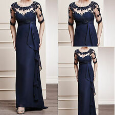 Mother of the Bride/Groom Wedding Gown Formal Prom Evening Party Dresses Custom
