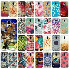 New Retro Charming Flowers Paint Case Cover Shell For Samsung Galaxy S4 S5 i9600