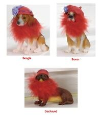 RED HAT Pet Club Collectible Figurine Boxer, Beagle, OR Dachsund ~ Society Gift