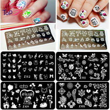 1PCS Nail Art Sticker Stamping Plates Fashion 24 Styles DIY Decoration JH075-086