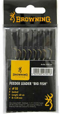 NEW BROWNING 60cm BARBED BIG FISH FEEDER HOOKS TO NYLON