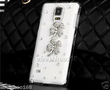 Bling Crystal Rhinestone Clear Hard Case Cover Diamond for phones clovers white