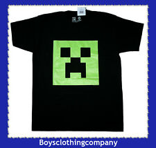 Minecraft T Shirt Top OFFICIAL Jinx Glow in the Dark Black BNWT (ages 7 - 13)