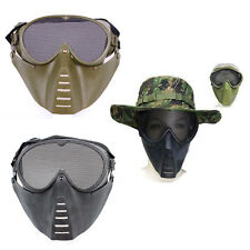 Metal Mesh Protective Mask Full Face Shield Tactical Airsoft Military Game Mask