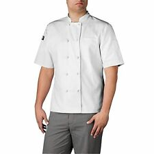 Chefwear 4450-40 Short Sleeve Cloth Knot Button Chef Jacket, White XS-5XL
