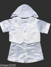 Boy  Infant Toddler Christening Baptism Outfit, Dove Cross ,Sz:X-Small to 4T