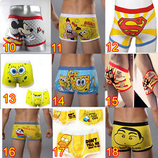 36 styles Sexy MEN Men's Underwear Cartoon cotton Boxer Briefs Shorts Pants L XL
