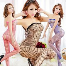 Sexy Lingerie Fishnet Bodystocking Crotchless Open Crotch Nightwear 0