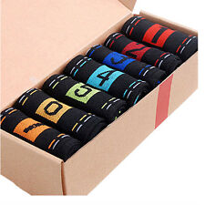 7 Pairs Men's Lot Fashion Casual Dress Socks Cotton Ankle Week Crew Socks B27U