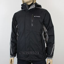"NEW MENS COLUMBIA ""Cubist II"" OMNI HEAT WINTER JACKET COAT S-M-L-XL-2XL BLACK"