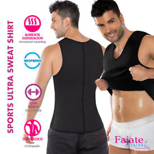 Men Ultra Sweat Thermal Muscle Shirt Double Face Camiseta Termica Fajas Gym NEW