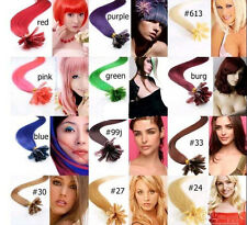 """AAA+18""""-32"""" Fashion Remy Human Hair Nail Tip Extensions 100s 50g-100g More Color"""