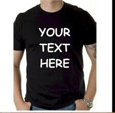 BUY 1 Custom Personalized T Shirts -YOUR TEXT,  Gildan, Hanes or Jerzees