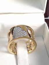 WOMENS BRILLIANT ROUND CUT cz  RING  yellow   GOLD 18kt overlaid size 6-7-8