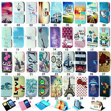 Fashion Magnetic Flip Pattern Hybrid Stand PU Leather Cover TPU Case For Samsung