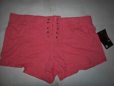NEW ROXY pink  shorty mini lace up shorts sz XL or Large