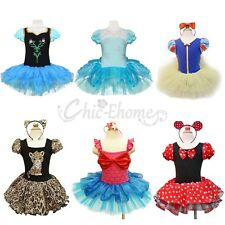 Minnie Mouse Children Girls Kids Party Costume Ballet Tutu Fancy Dress Up 1-10Y