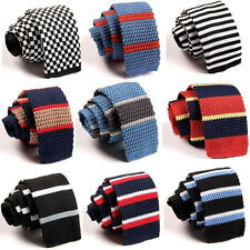 Hot Stylish Men Tie Knit Knitted Tie Necktie Narrow Slim Skinny Woven 23 Colors